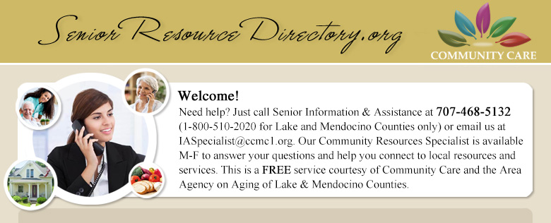 Description: Description: Senior Resource Directory of Lake & Mendocino County